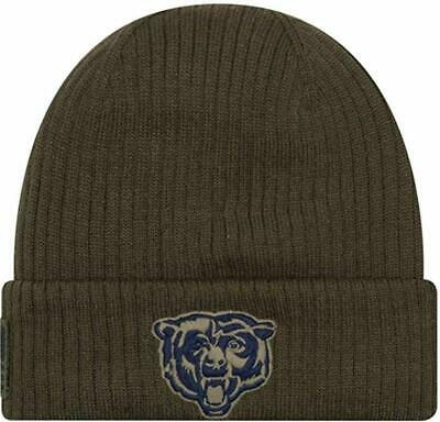 Chicago Bears NFL Men's Salute to Service Knit Beanie Cap Hat