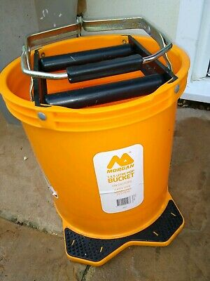 Morgan WRINGER cleaning MOP BUCKET 14.5L Chemical Resistant Ambidextrous foot