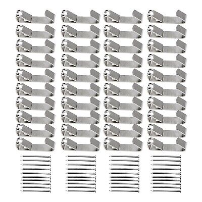 100x Heavy Duty Wall Mount Hooks 30lb Picture Framing Moulding Hanger with Nails