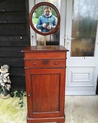 A Super Victorian Washstand With Integral Towel Bin