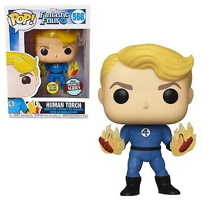 Funko Pop! Marvel: Fantastic Four - Human Torch Specialty Series Exclusive GITD