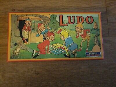 LUDO Retro Board Game in 1920's Vintage Style Traditional Box Family Classic Toy