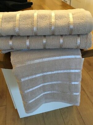 Egyptian Cotton Bath Sheet Natural Pack Off Three