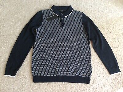 Marks And Spencer M&S Autograph Boys Navy Jumper Top Age 6-7 Years Bnwt Rrp £14