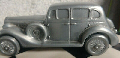 Vintage 1974 Banthrico 1937 Packard Metal Coin Money Bank Car
