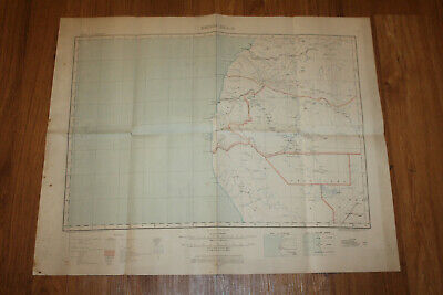 "1919 Benquella Africa Royal Geographical Society Map 30"" X 30"""