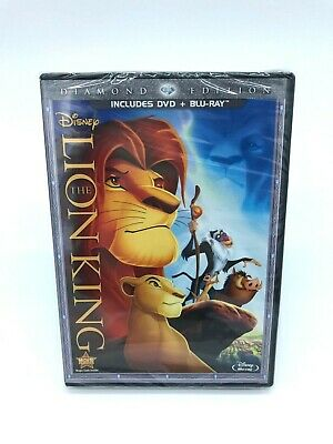 The Lion King (Blu-ray and DVD, 2011 Diamond Edition) NEW SEALED No Slipcover