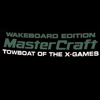 Mastercraft Boat Decal 758187 Wakeboard Towboat Edition Polo Green