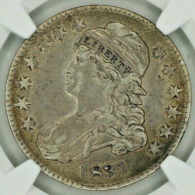 1831 Capped Bust Silver Half Dollar NGC XF45 - Lovely Antique Toning