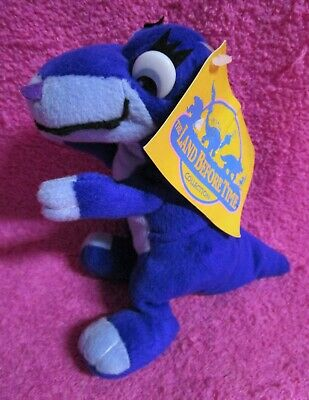 """Toy Network The Land Before Time Chomper Purple T-Rex Dinosaur Plush 7"""" w/ Tags"""