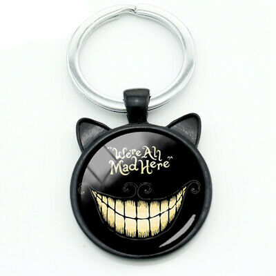 Alice In Wonderland Cheshire Cat Collectible Metal Key Ring Key Chain Gift Bag