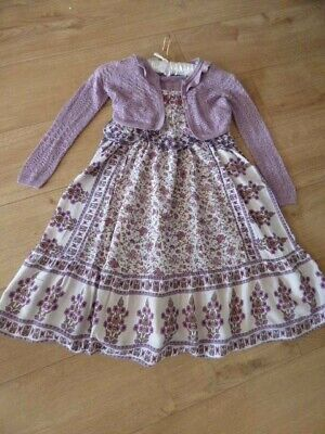 Girls Next Maxi Floral Summer Dress and Shrug Outfit Age 5 years