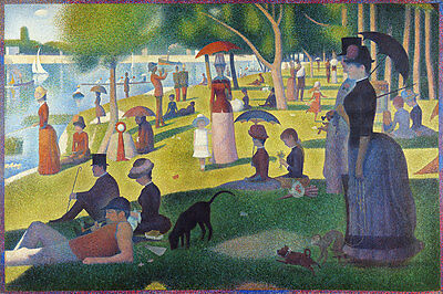 A Sunday on La Grande Jatte A1 by Georges Seurat High Quality Canvas Print