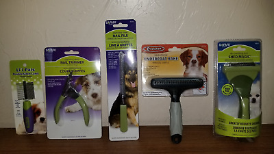Coastal Dog Groom: Comb, Nail Trimmer, File, Undercoat Rake, Shed, Brush, Curry