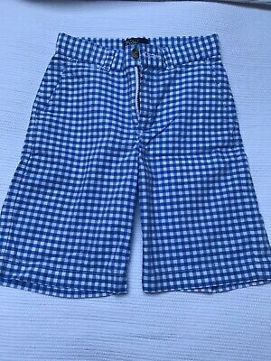Polo Ralph Lauren Shorts Age 7 - Blue Gingham.Gorgeous.New W/out Tag RRP£60