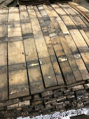 12 X SOLID OAK WHISKY / WHISKEY BARREL STAVES BOURBON SCOTCH - Authentic Rustic