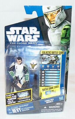 "New Star Wars The Clone Wars 3.75"" Clone Trooper Hevy Action Figure Sealed"