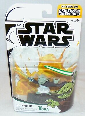 "New Star Wars The Clone Wars Animated 3.75"" Yoda Action Figure Sealed"