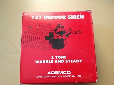 747 Indoor Siren 2 Tone New In Box works with Honeywell  Ademco and DSC