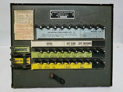 OWN A PIECE OF POLITICAL HISTORY CHICAGO Automatic VOTING MACHINE MODEL