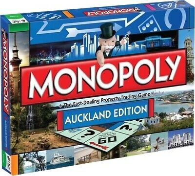 AUCKLAND - Auckland Edition Monopoly Board Game (Winning Moves) #NEW