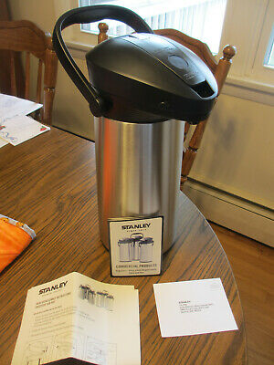 STANLEY ErgoServe 2.2 Liter Commercial Grade Stainless Steel Glass Lined Airpot
