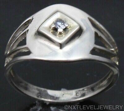 Antique Ostby & Barton 1920's Art Deco Diamond Sterling & 10k Gold Cocktail Ring