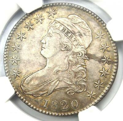 1820 Capped Bust Half Dollar 50C Coin O-108 - Certified NGC AU58 - $2,550 Value!