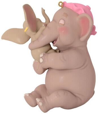Hallmark 2018 Disney DUMBO Baby Mine porcelain elephant Christmas ornament NIB
