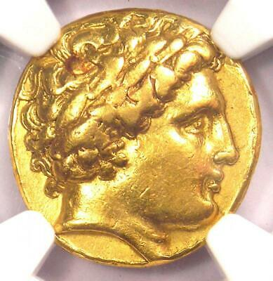 Ancient Philip II AV Gold Apollo Stater Coin 359-336 BC. Certified NGC Choice VF
