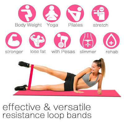 Resistance Bands Loop Set Exercise Sports Fitness Home Gym Yoga Latex Set of 5*A