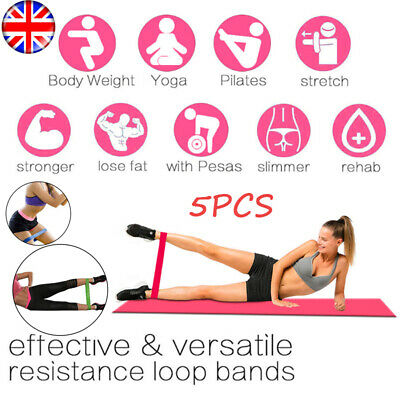Resistance Bands Set or Singles - Exercise Glutes Yoga Pilates Home Gym Workout*