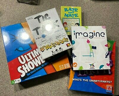LOT OF 5 - Imagine,Tic Talk, Smarty Party, Ultimate Game Gamewright, Asmodee NEW