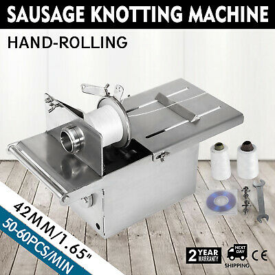 42mm Manual Hand-Rolling Sausage Tying & Knotting Machine Food Stainless Steel