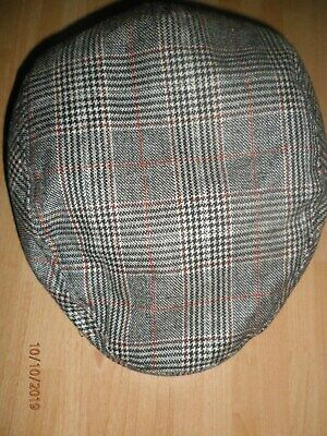 Marks Spencer boys brown mix checked cap age 10/14 years
