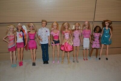 Barbie Doll Lot Of 10 Fully Clothed Barbie Dolls In Excellent Condition Lot 23