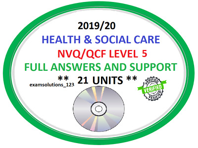 Level 5 Diploma in Leadership for Health and Social Care NVQ/QCF Answers 2019 CD