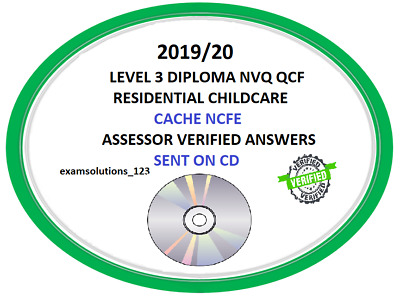Residential Childcare Answers Level 3 Diploma NVQ QCF 2018/19 answers CACHE NCFE