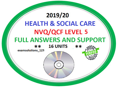 NVQ/QCF Level 5 Health and Social Care Answers 16 UNITS * SENT ON CD