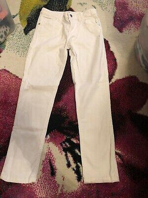 Girls White Jeans From Marks And Spencer Age 9-10