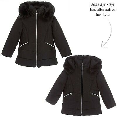Mayoral Girls Black Padded Puffer Jacket Size 8 Year Old Brand New (No Tag)