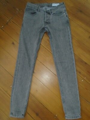Boys grey super skinny jeans W28/L30