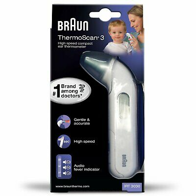Braun ThermoScan 3 Infrared Baby Children's Ear Thermometer LCD Display IRT3030