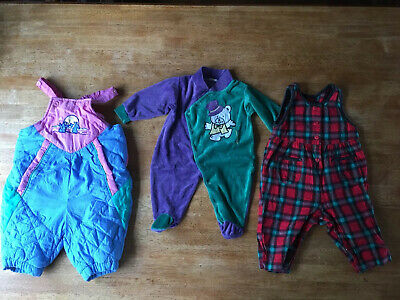 Vintage Baby Girls All In One Bundle 80s 90s X3 0-3 3-6 Months