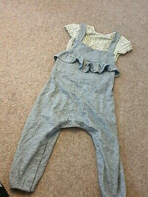 Girls Next Outfit Age 18-24months All In One Grey Outfit With T Shirt