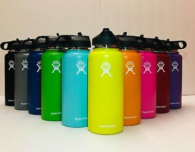 Hydro Flask Water Bottle - 32OZ Stainless Steel & Vacuum Insulated_ Straw Lid