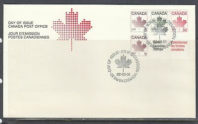 Canada Scott 945a Bkl Pane FDC - 1982 Booklet Issue