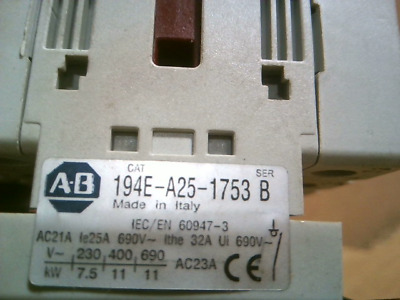 Allen Bradley 194E-A25-1753 Load Switch Disconnect - Used