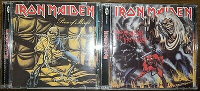Iron Maiden Number Of The Beast & Piece Of Mind Remastered Enhanced CD's EMI EX+