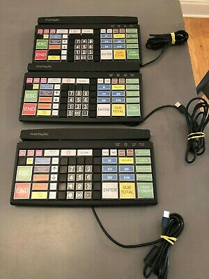 3x PrehKeyTec MCI-96 POS Keyboard removed from working enviornment